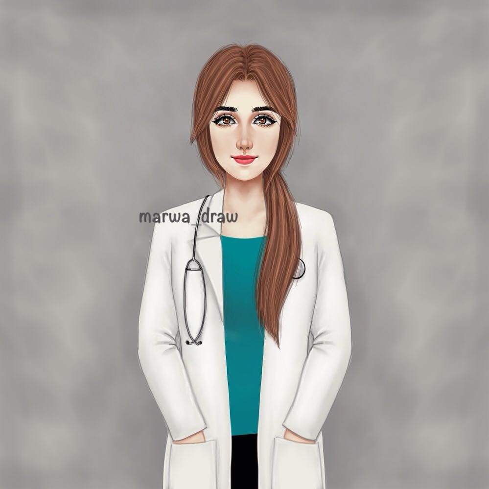 صور رسم بنات كرتون رمزيات رسومات انمي للانستقرام Cute Girl Drawing Girl Doctor Doctor Coat