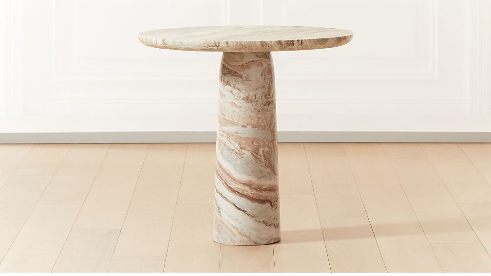 Babylon Round Small Table Cb2 In 2020 Small Tables Glamorous