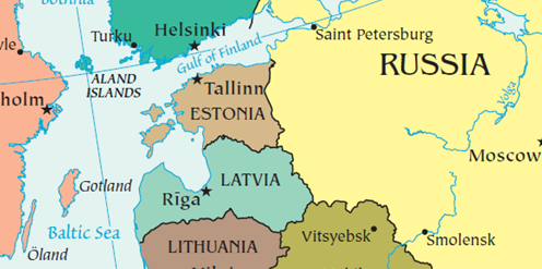 Map of Estonia | EJ - Eastern Europe | Russia, Eastern europe, Finland