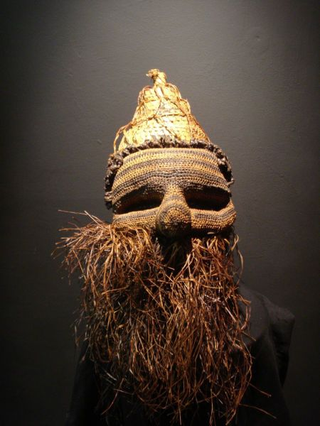 Pende Tribal mask- Ceremonial Mask worn in a dance to celebrate a woman's first birth. Bandundu, Democratic Republic of The Congo circa 1980s