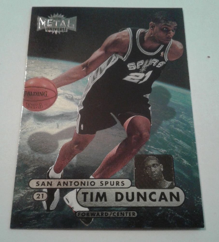 1997 98 Skybox Metal Universe Tim Duncan Rookie Card 72