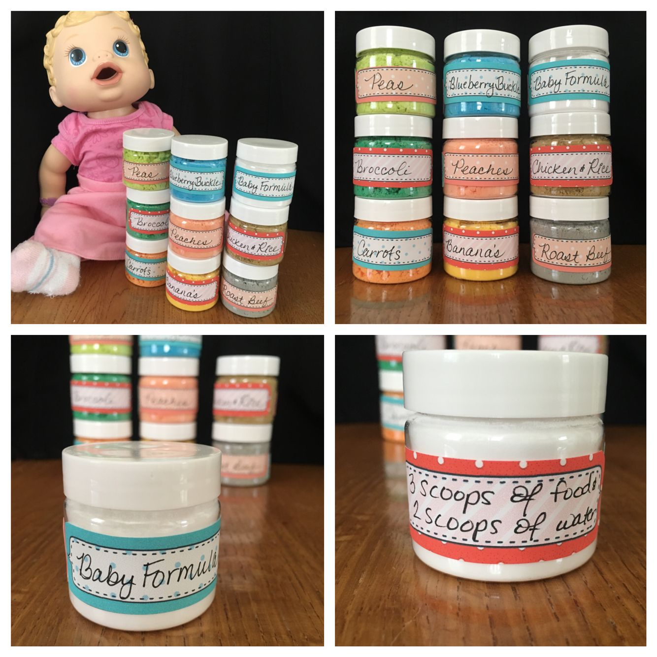 Homemade Baby Alive Baby Food Made With Dollar Store Items All For Under 5 Baby Alive Food Baby Alive Dolls Baby Alive