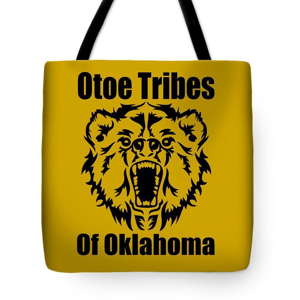 The Otoe Tote Bag featuring the digital art Otoe Tribes Of Oklahoma by Otis Porritt