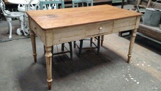 Mesa cocina antigua | antiguedades carroza | Four square