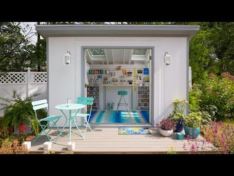 A playhouse for Ava and exercise room for me :-) She Sheds