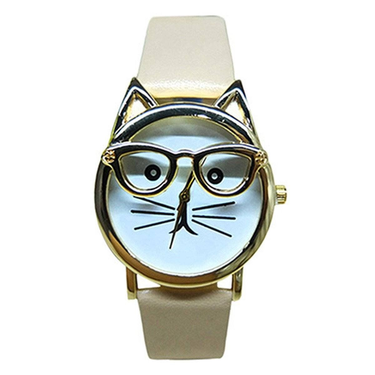 Cattitude Cat Lovers Leather Watch