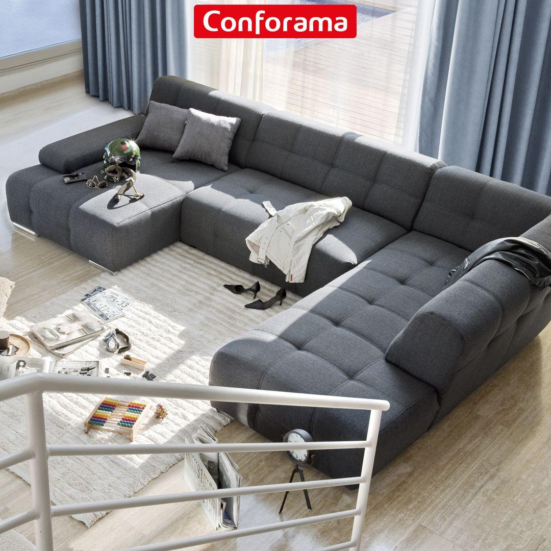 Rinconera En Forma De U Para Aprovechar Al Maximo Tu Salon Descubrela En Conforama Sofa De La Sala Muebles De Sala Modernos Sofa Cama Conforama