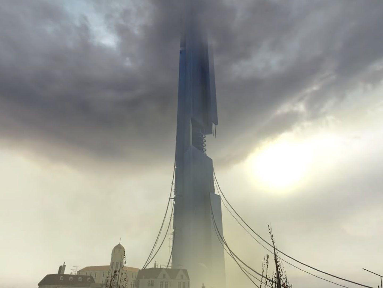 The Combine Citadel Ascending To The Heavens Heaven Wallpaper