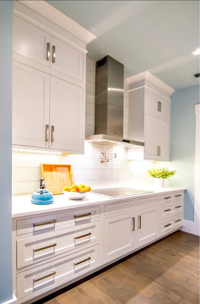 Kitchen Ideas. Kitchen Design Ideas. Kitchen Cabinet Paint Color Is Sherwin  Williams Pure White