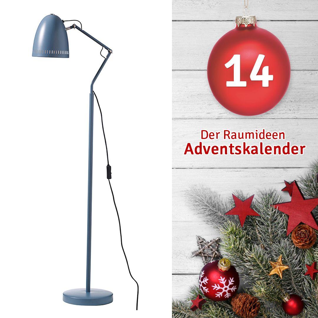 Öffne jetzt noch schnell das 14. Türchen und gewinne mit etwas Glück diese Stehlampe!  #Gewinnspiel #Adventskalender