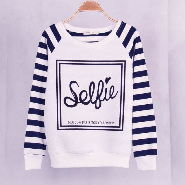 Free Shipping Casual Women Striped Printed Sweatshirt Hoodies Sudaderads Tracksuits Pullover Hoody Plus Size Women