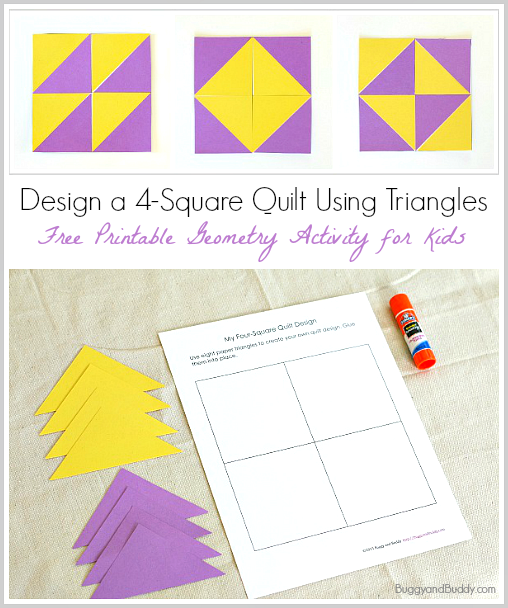 geometry for kids quilt activity using triangles free printable new teachers geometry. Black Bedroom Furniture Sets. Home Design Ideas