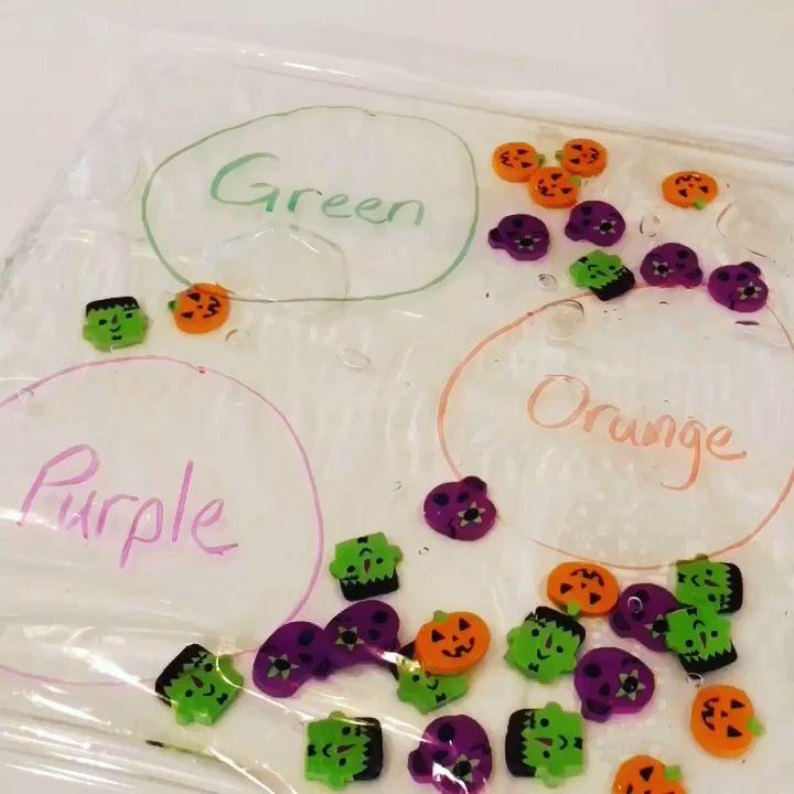 Halloween Color Sorting Sensory Bag * ages 1-6 ⋆ Raising Dragons #halloweenactivities