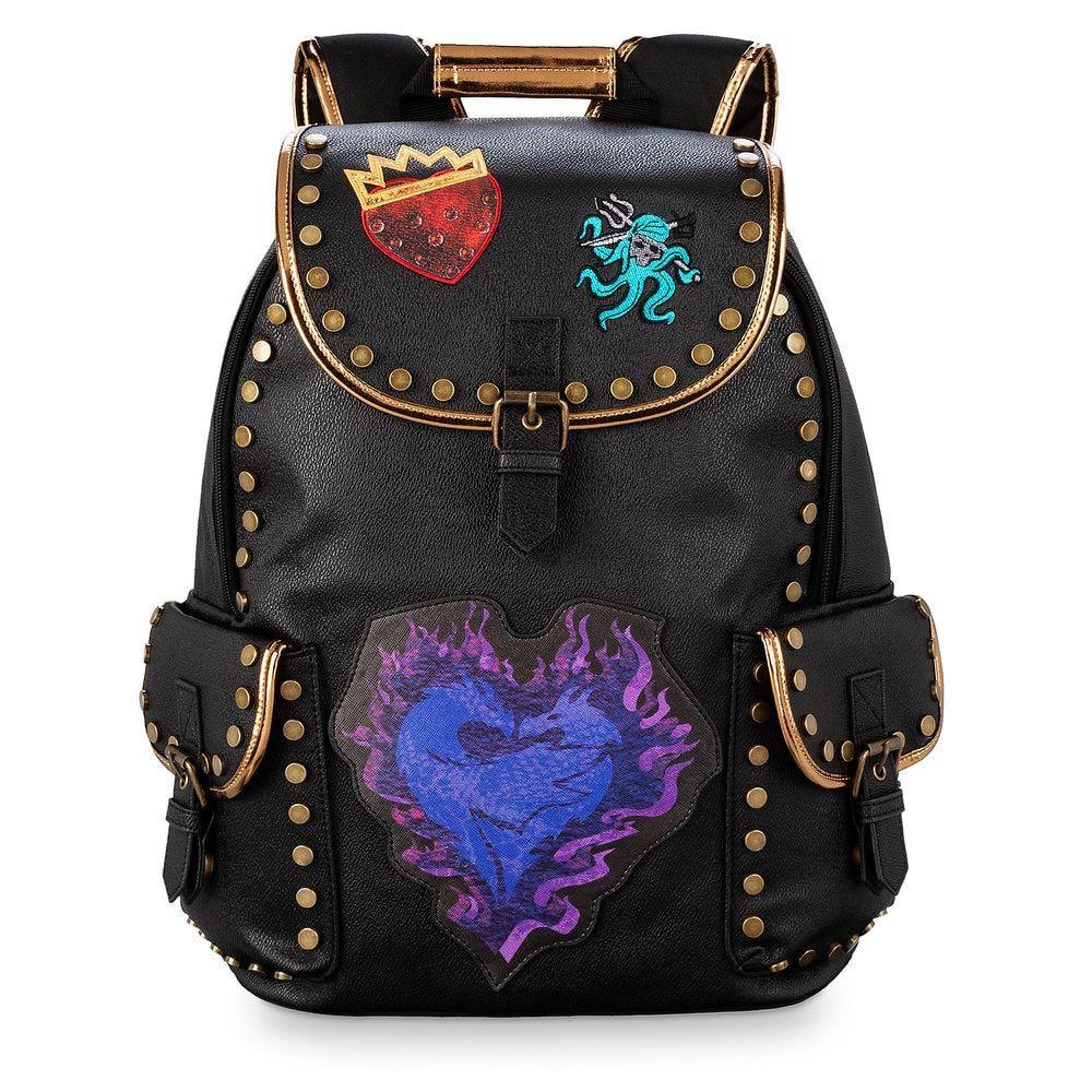 DisneyStore Descendants Evie Mal Heart Purse Fashion Bag Cross Body Dragon Stud
