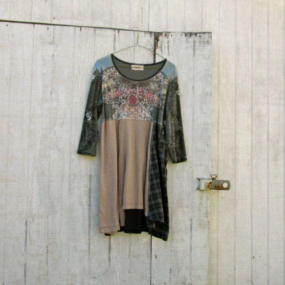 Medium Xlarge Upcycled Dress / Funky / Eco Dress / By