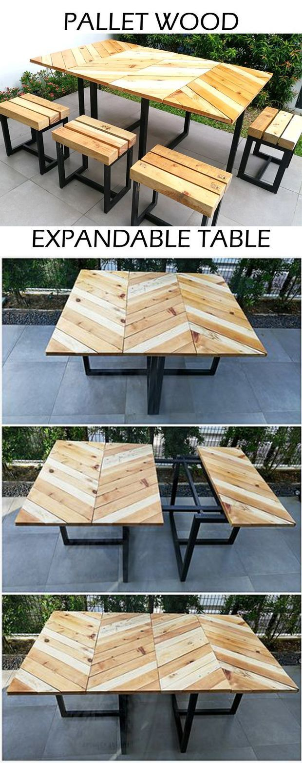 industrial style outdoor furniture. Here\u0027s My Original Design For An Industrial-style Expandable Outdoor Table With Matching Stools, Made Out Of Reclaimed Pallets And Dimensional Lumber. Industrial Style Furniture