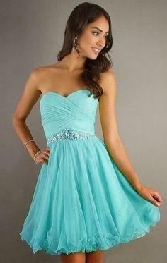 996fef89a vestidos cortos de 15 color turquesa - Buscar con Google