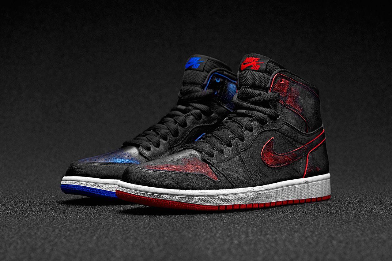 Air Jordan 1 x Nike SB Changes Colors When Worn Down: First Look