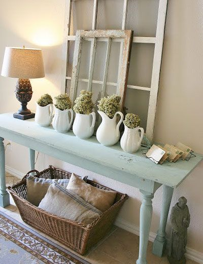 Easy creative decor ideas entry table display click for Shabby chic living room ideas on a budget