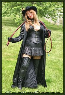 whip leather with Blonde in