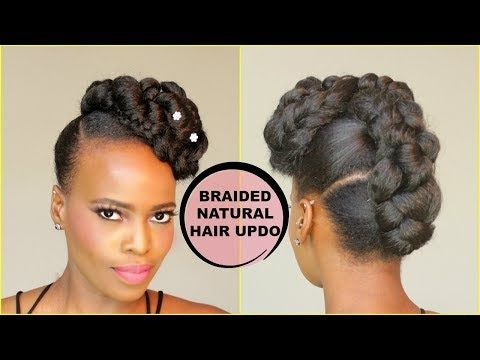 New faux french braid updo natural hair tutorial youtube faux french braid updo natural hair tutorial youtube pmusecretfo Images