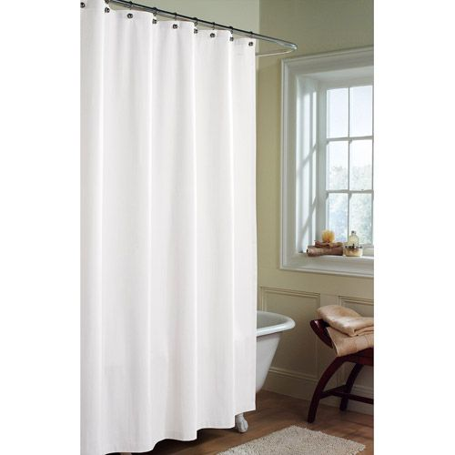 Canopy Microfiber Fabric Shower Curtain Liner Arctic White 14 97