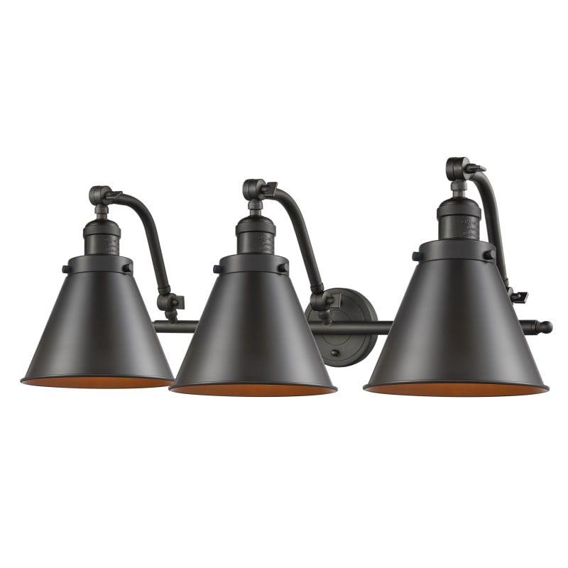 "Photo of Innovationen Beleuchtung 515-3W Appalachian Appalachian 3 Light 28 ""Breites Badezimmer Va Öl eingerieben Bronze Innenbeleuchtung Badezimmerleuchten Waschtischleuchte"