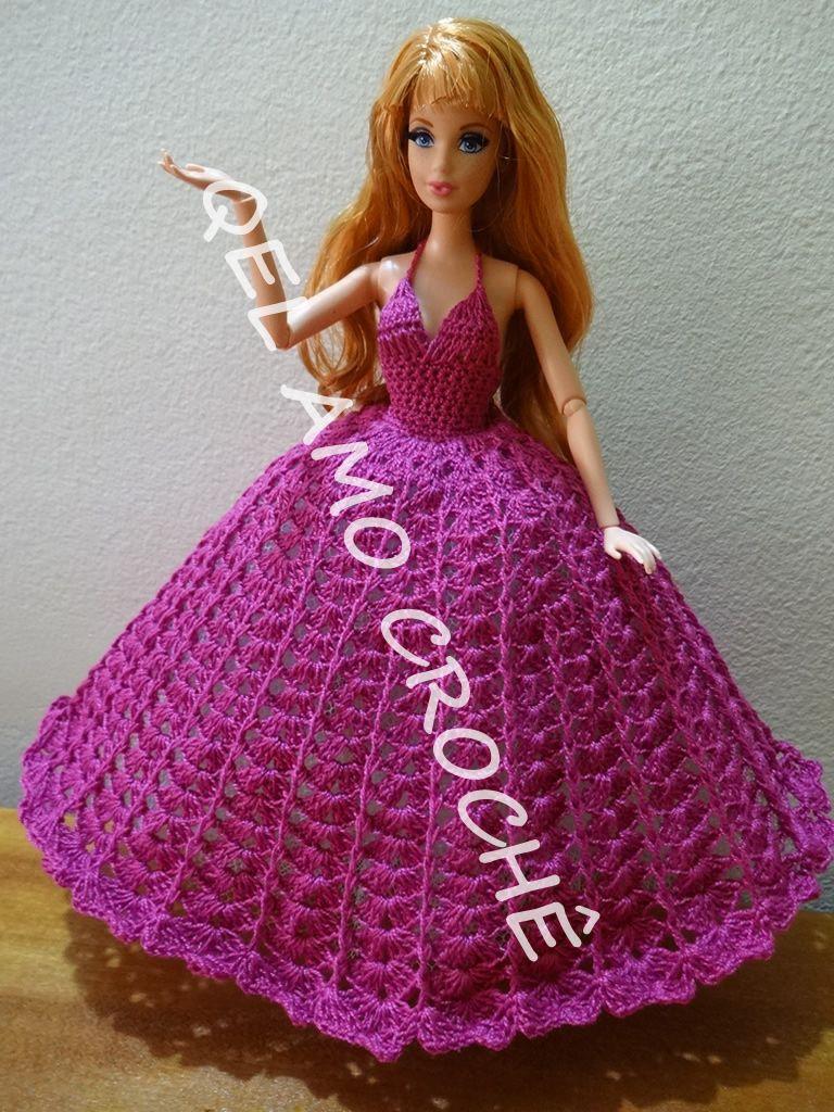 0ecee66c94c3 Barbie #Doll #Acessórios #Crochet #Vestido #Roupa #RaquelGaucha ...