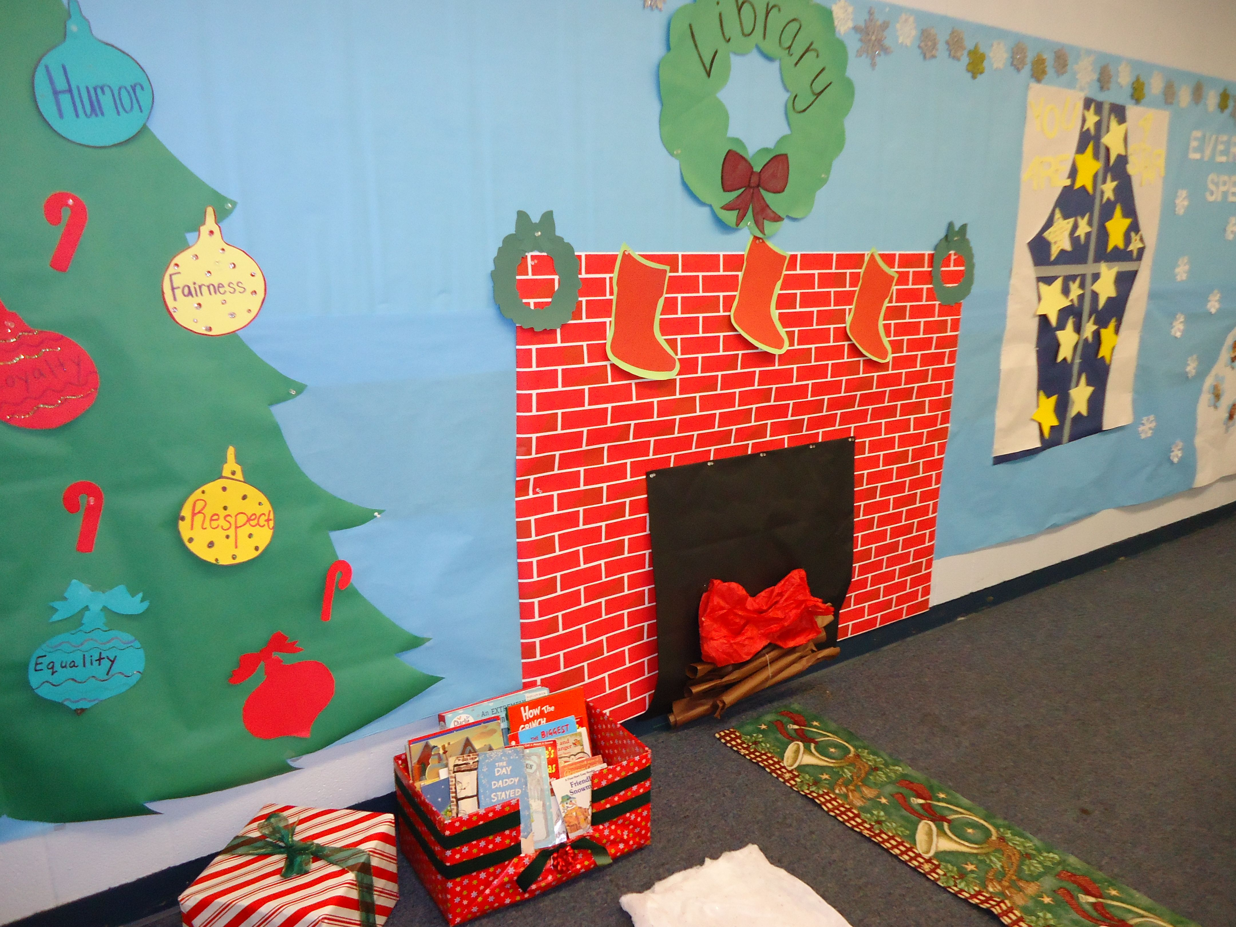 Winter Wonderland Preschool Classroom Decorations ~ Winter wonderland in the classroom school time