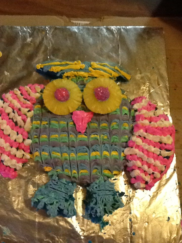 Owl cake made by trav