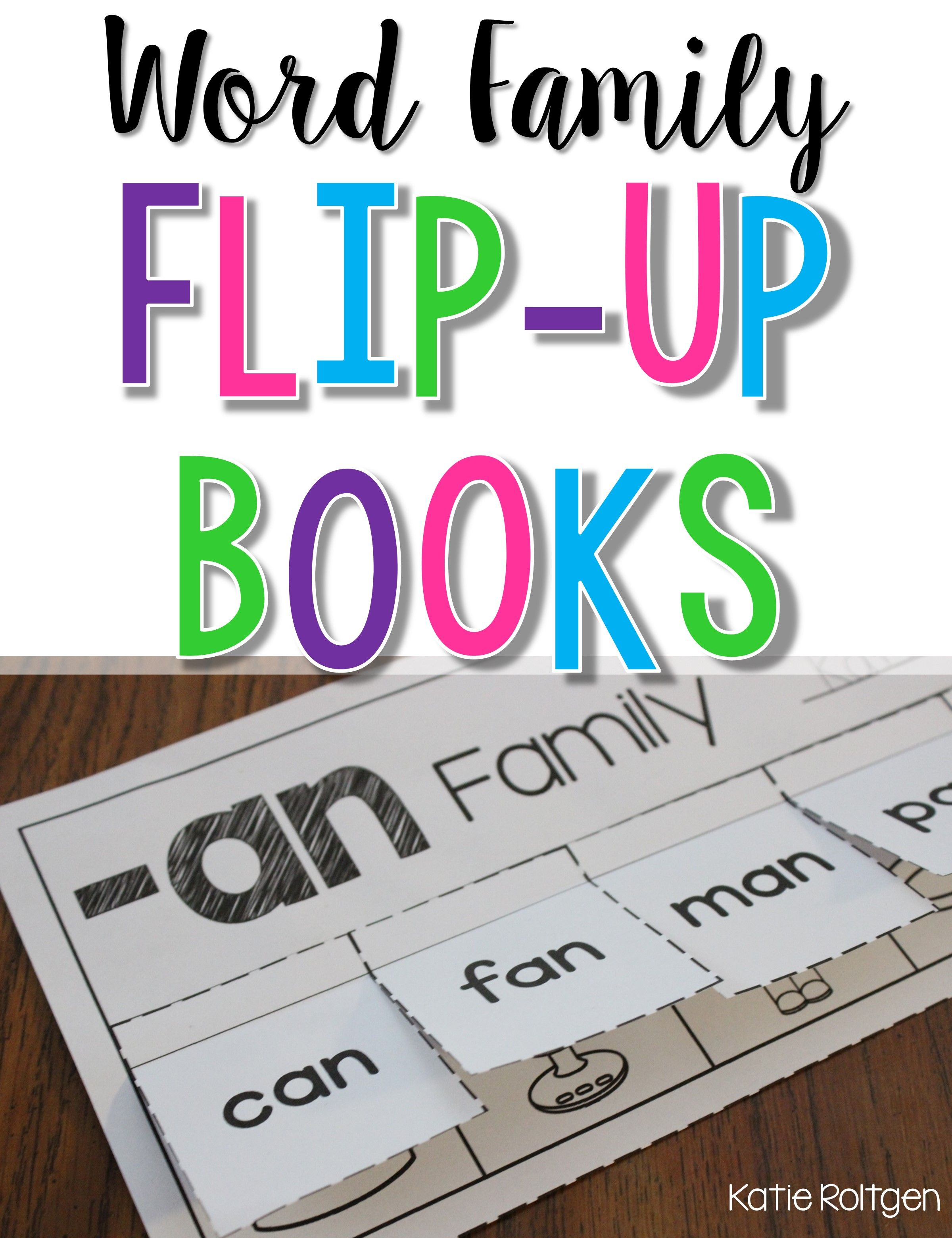 Word Family Flip Up Books