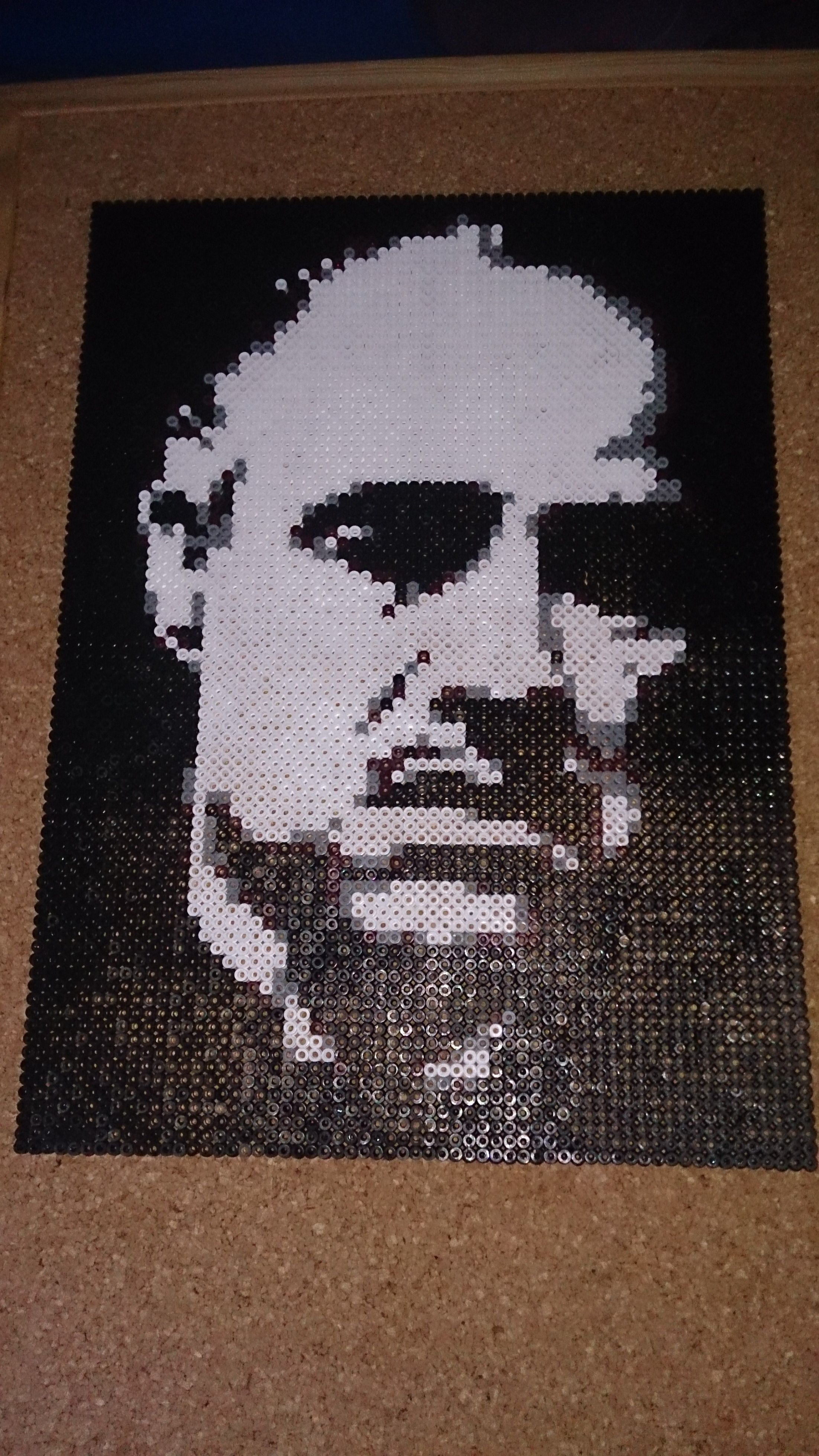 The Godfather - Perler bead portrait by Andre Jung | Perler