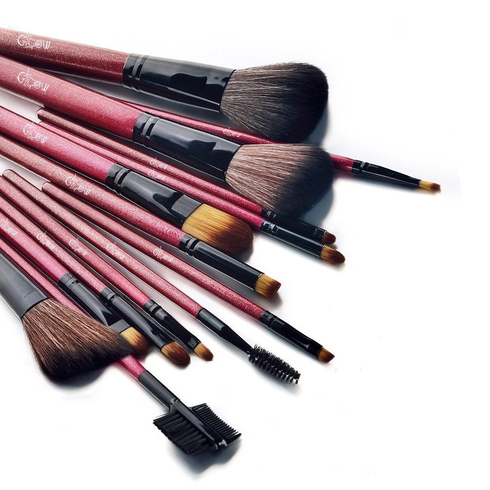 14pc brush set in RED Makeup supplies, Cosmetics