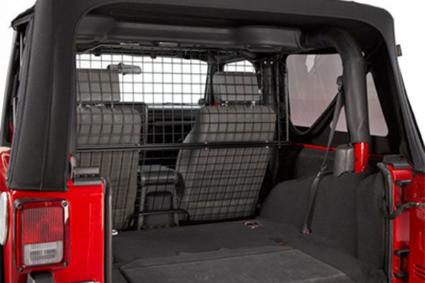 Cargo//Pet Full Divider for Jeep JKU 4 Door Black