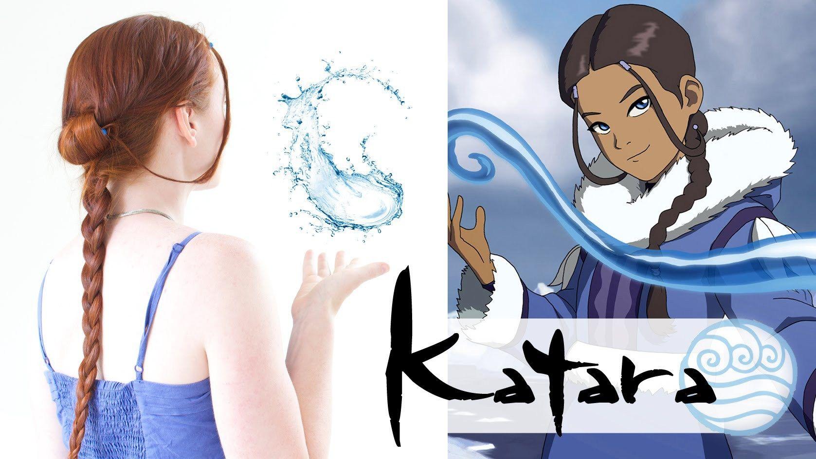 An Avatar Hair Tutorial Katara Silvousplaits Hairstyling Avatar Cosplay Avatar Katara Costume