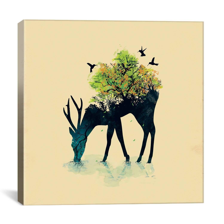 li>Artist: N/A</li> <li>Title: Watering by Budi Satria Kwan Canvas ...
