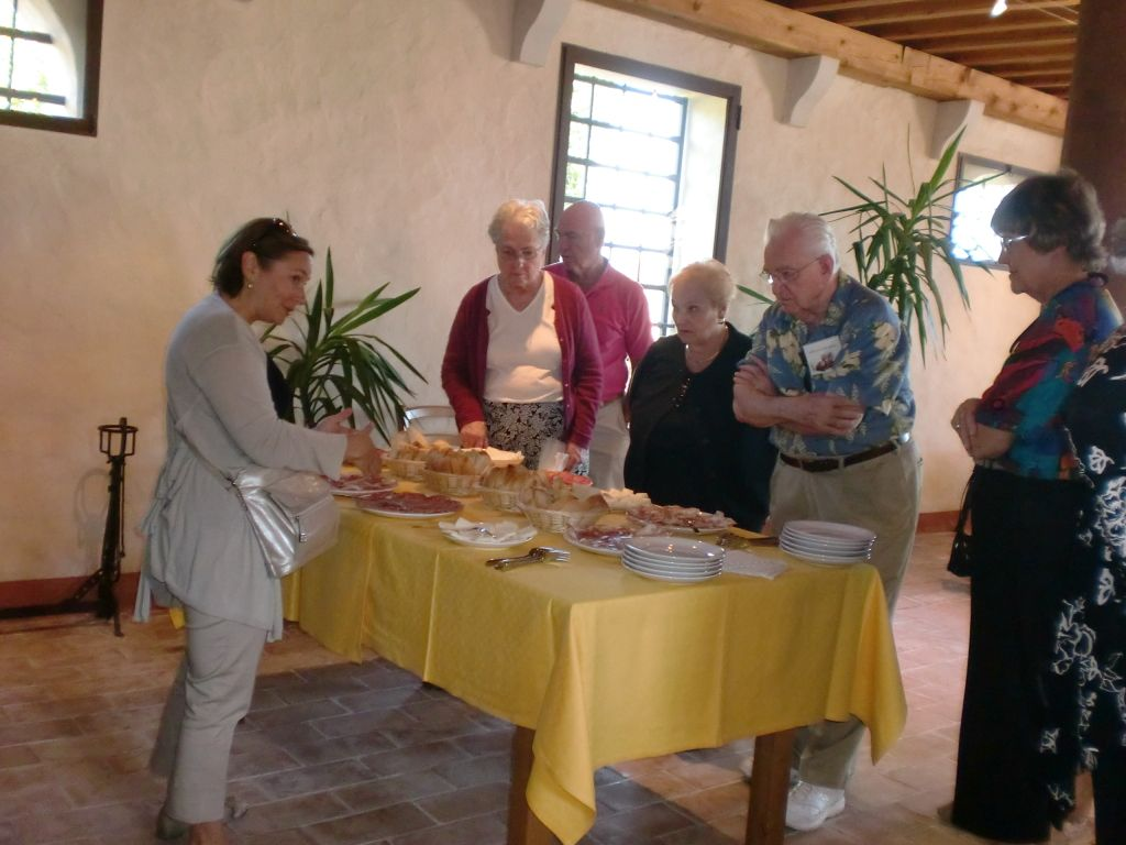 Collalto wine tasting & lunch atteded by the Sarasota Sister Cities delegation in 2010 was hosted by Cantina Borgo Luce