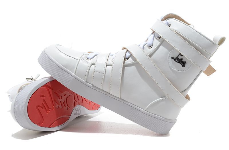 167015e802f1 Christian Louboutin Spacer Flat Leather White Sneakers