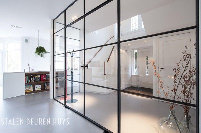 Scheidingswand met dubbele taatsdeuren project zeist huis