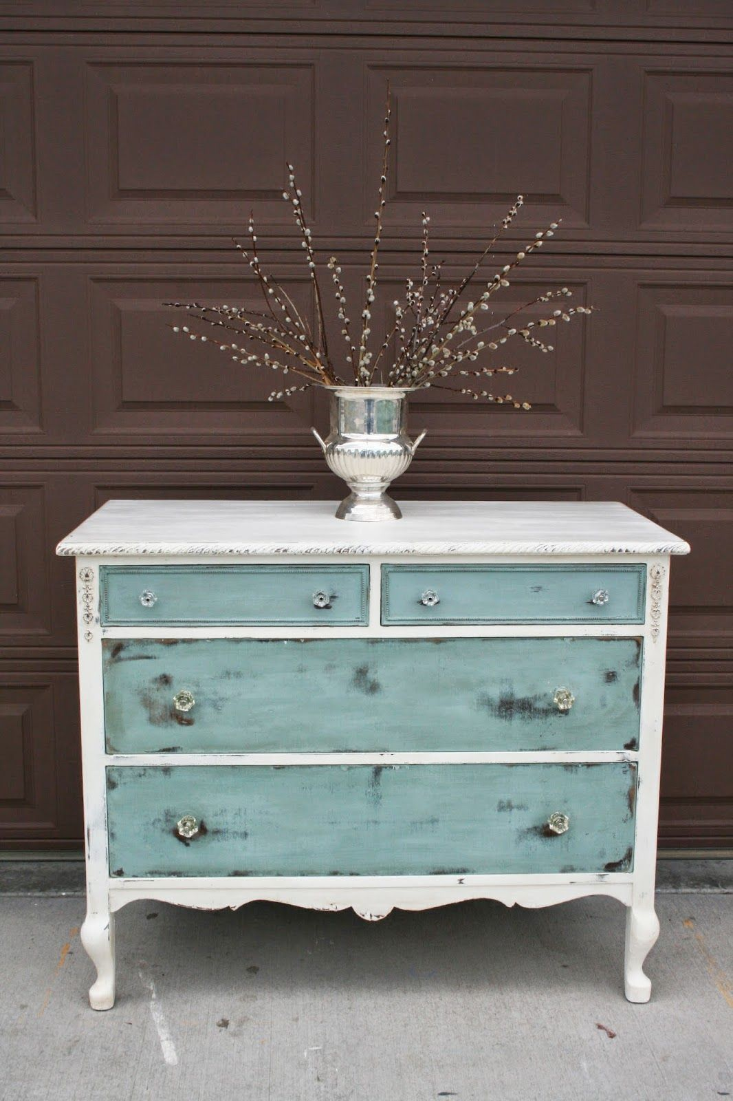 Antique Dresser Makeover For Storage / Rustic Country Bathroom - Antique Recreation: At Long Last... Furniture Upcycles