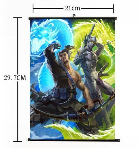 Anime Poster Overwatch Widowmaker Wall Scroll Home Decor 60*90cm
