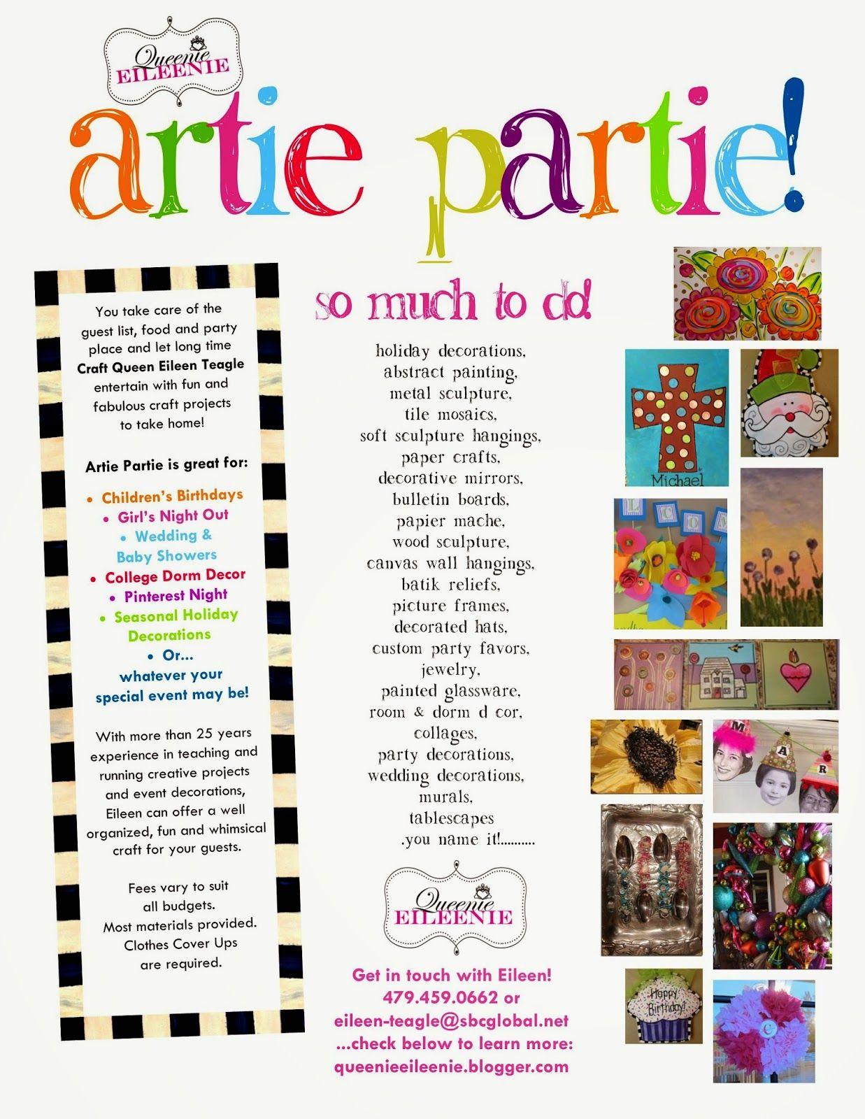 Queenie Eileenie Announcing Summer Artie Partie