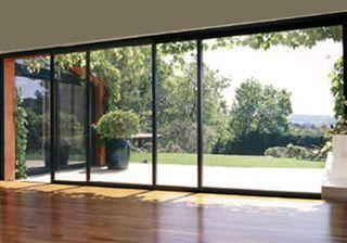 Decoracion mueble sofa puertas de aluminio correderas - Cristaleras plegables ...