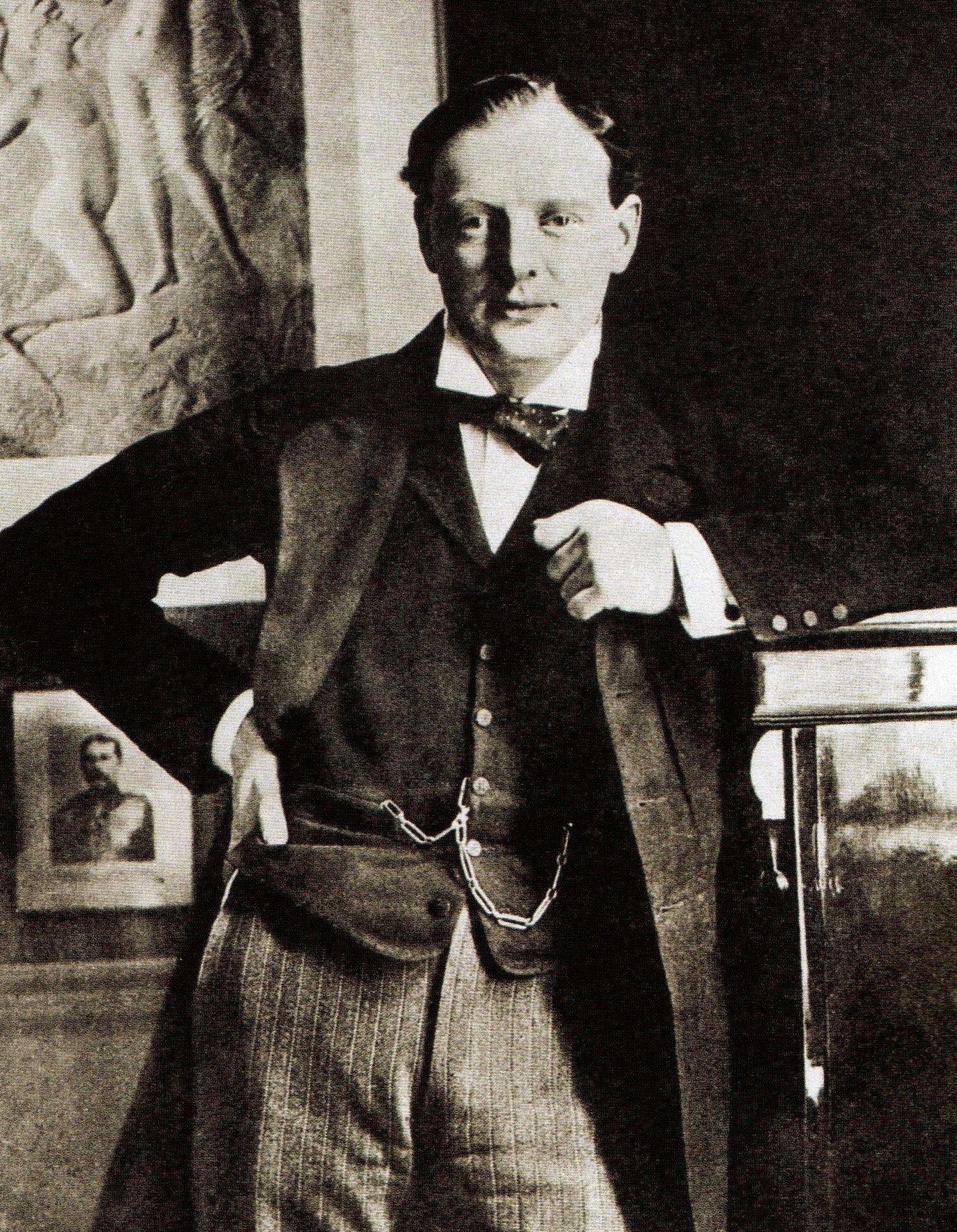 Sir Winston Churchill, in a portrait taken when he first ...