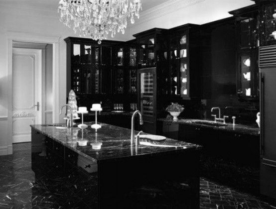What about a luxury black kitchen? & 11 Amazing Black Kitchen Designs That Will Make Your Kitchen Elegant ...