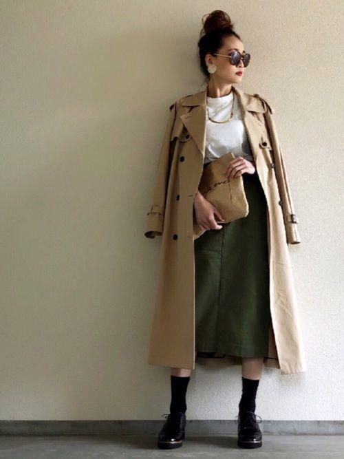 Yukie♡i|UNITED ARROWSのトレンチコートを使った