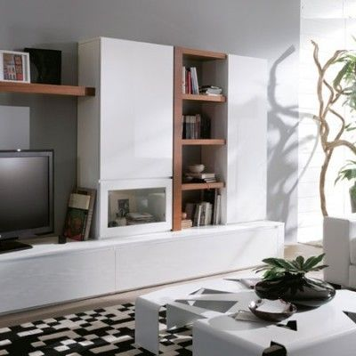 Centro de entretenimiento mueble casa pinterest - Salones clasicos modernos ...