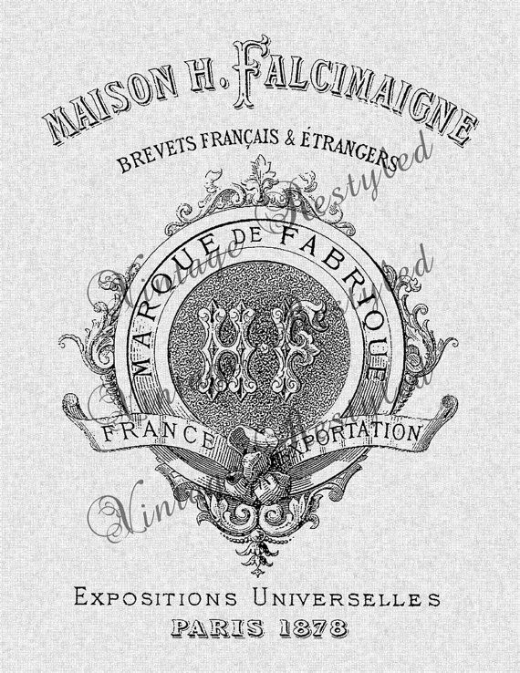 Vintage French Label Iron Instant Download for by VintageRestyled, $1.00
