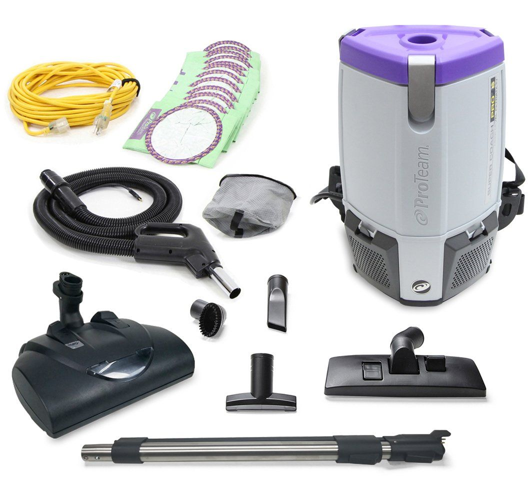 Proteam Super CoachPro 6 Commercial Backpack Vacuum w