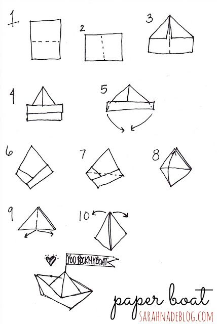 World Forum Guests Printable Origami Paper Boat Instructions